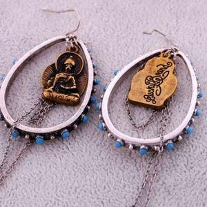 Lucky Brand ss925 plated Boho Hoop Earrings